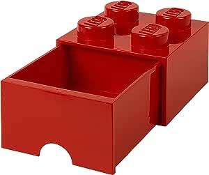 Room Copenhagen-Lego Ladrillo 4 pomos, 1 cajón, Caja de almacenaje apilable, 4,7 l 40051730: Amazon.es: Juguetes y juegos