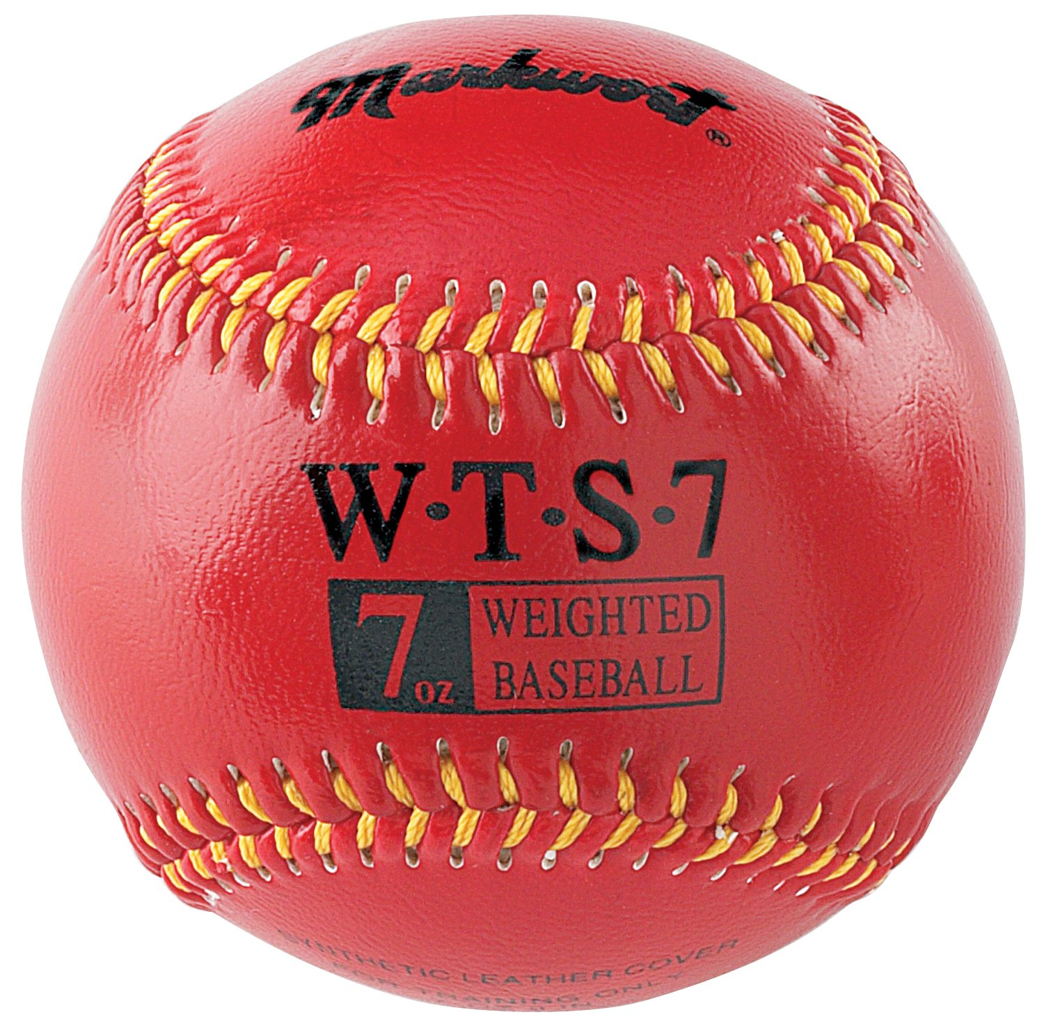 Markwort Synthetic Cover Weighted Baseball, Black, 12-Ounce WTS12