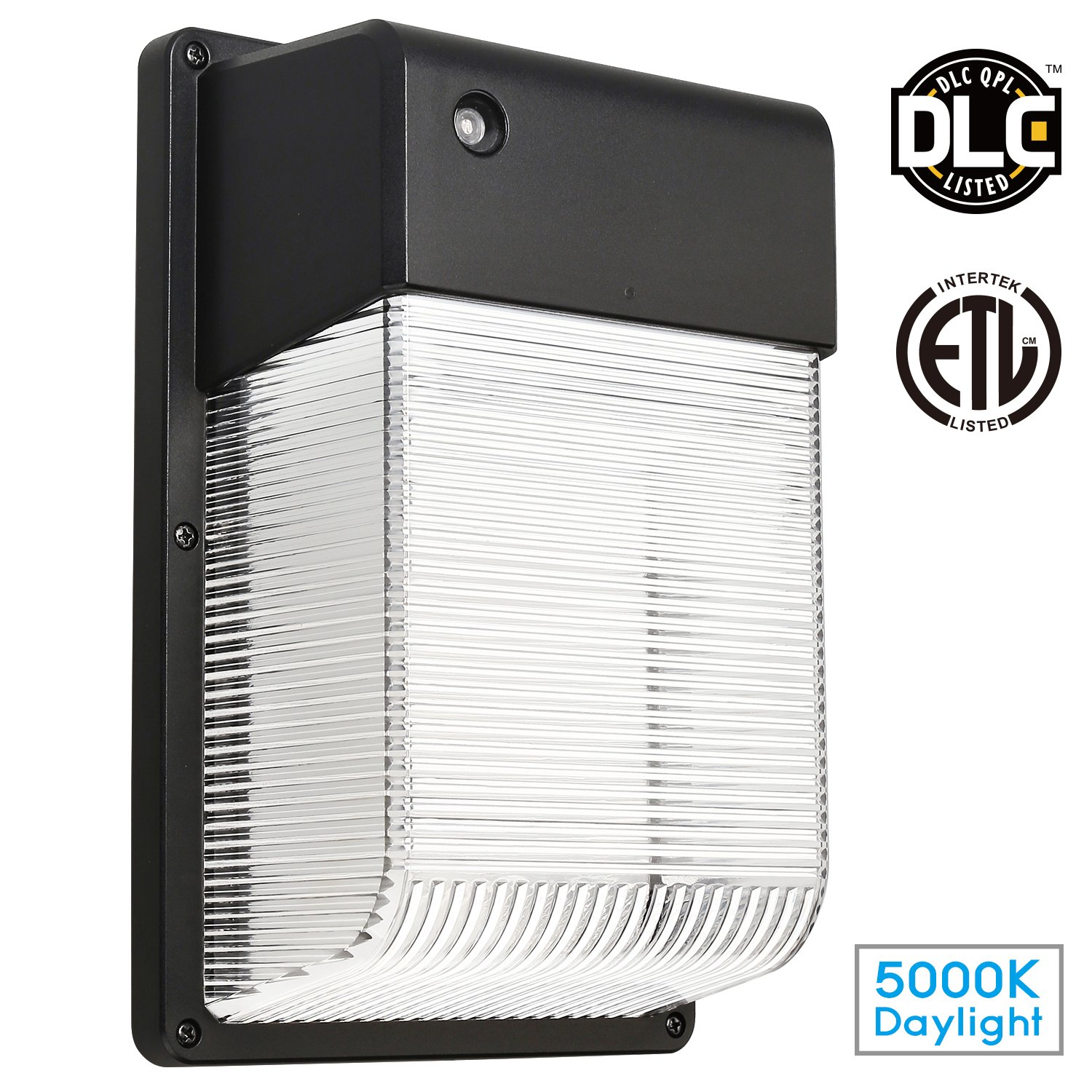 LED Wall Pack Outdoor Light Photocell Included 25W 250W Equiv. Security Area Lighting 2350 Lumens Ultra Bright DLC & ETL Certified for Garage Basement Yard Garden