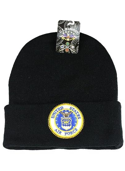 dbf74593 U.S. Military Cap Beanie Hat Army Marine Navy Air Force Veteran (Air Force  B 2