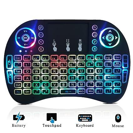 Amazoncom Mini Wireless Keyboard Backlit And Touchpad Mouse Combo