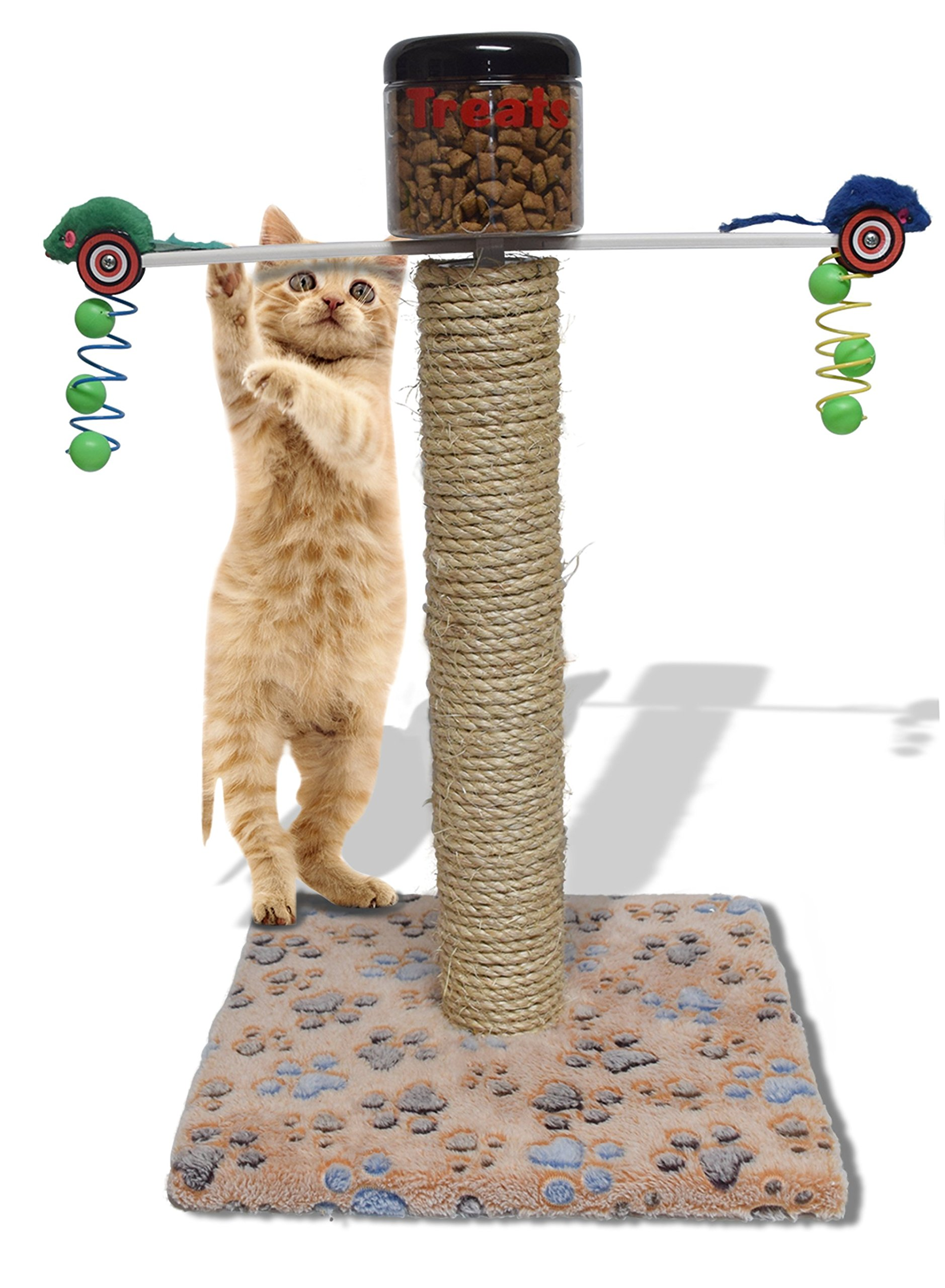 Health Cat Food Toy / Allows your animal to WORK for their FOOD / Vet Recommended for this interactive toy