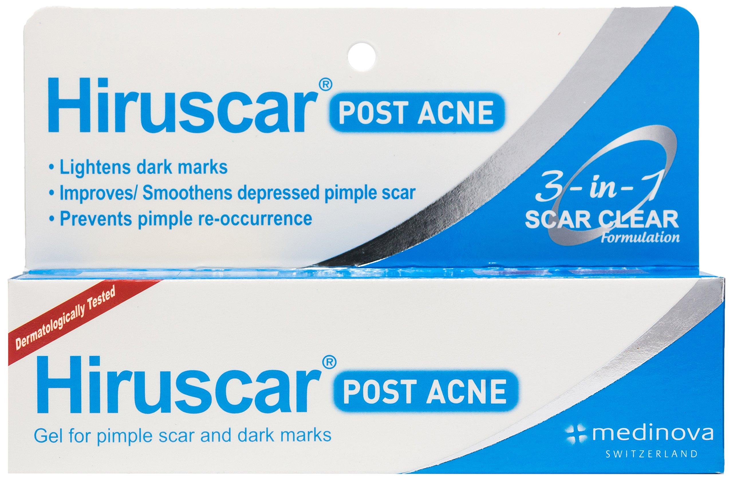 Hiruscar Postacne Gel Anti Acne Scar Dark Spots Pimples Inflammation 3 in 1 (10g.)