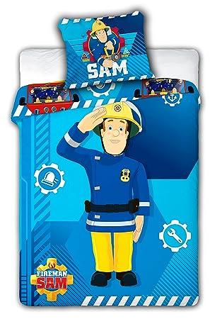 Bettwäsche Feuerwehrmann Sam Bettbezug 100 X 135 Cm Kissenbezug