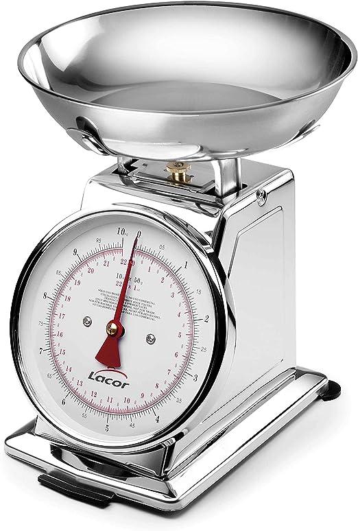 Lacor - 61705 - Bascula Mecanica Con Bol Inox 5 kgs: Amazon.es: Hogar