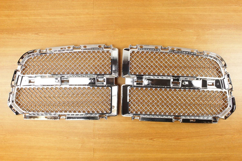Dodge Ram 1500 Laramie Longhorn Chrome Horizontal Grill Inserts OEM Mopar 82213606.0