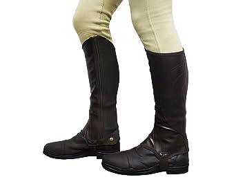 Synthetik Gamaschen GS Equestrian Damen Reitgamaschen Barton-Aufdruck
