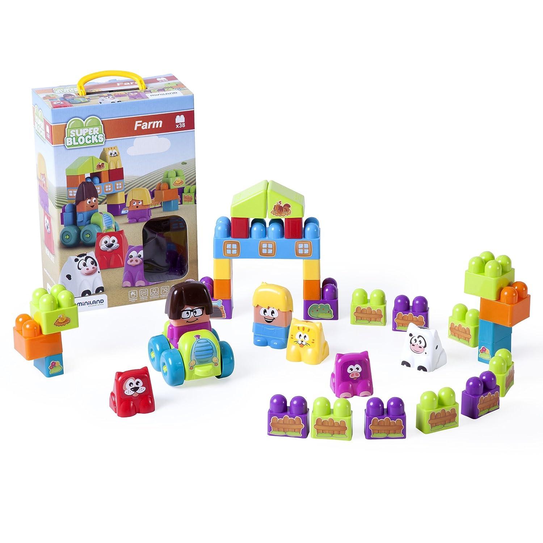 Miniland Super Blocks Set Farm Playset