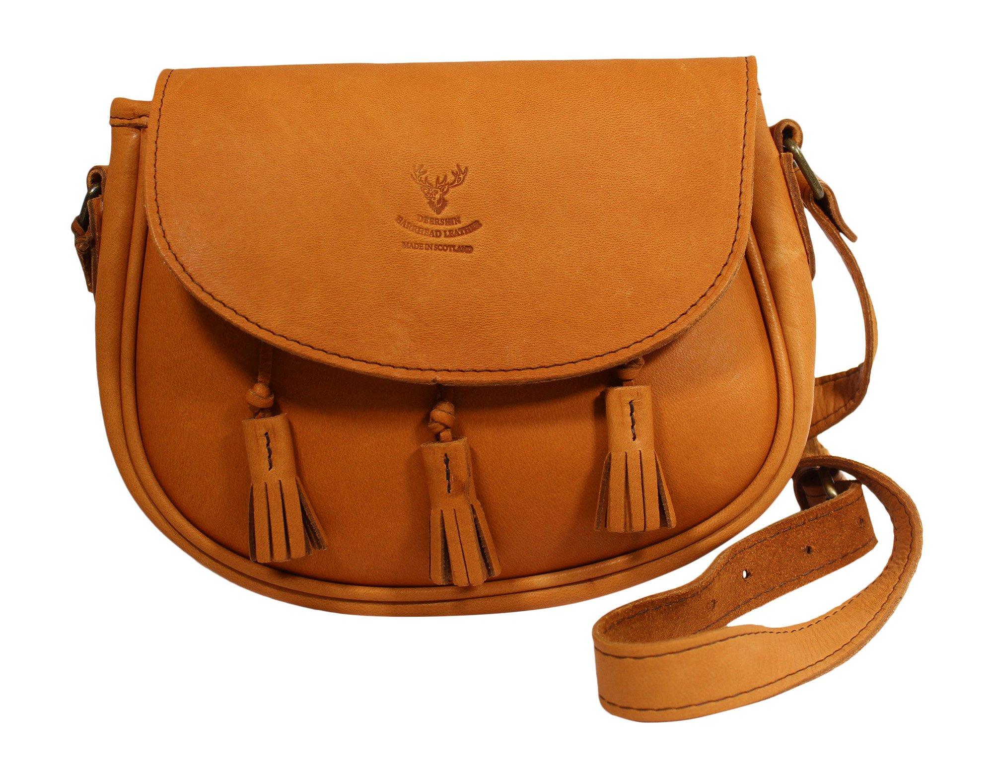 Wild Scottish Deerskin Designer Leather Authentic Cross Body Cartridge