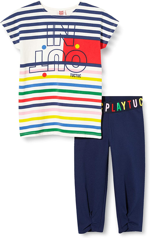 Tuc Tuc Conjunto Camiseta Rayas Y Legging Pirata NI/ÑA Azul Player