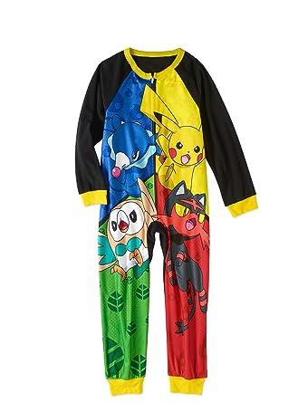 82d274bce Amazon.com  Pokémon Pokemon Boys  Poly One Piece Pajama  Clothing
