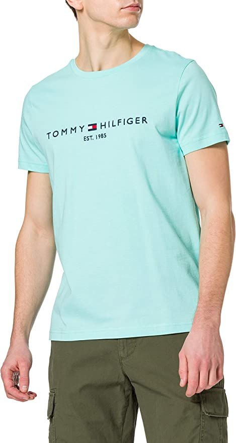 TALLA S. Tommy Hilfiger Tommy Logo tee Camiseta para Hombre