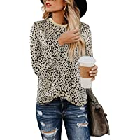 Moskill Women's Cold Shoulder Tshirt Tops Floral Printed Casual Loose Swing Tunics