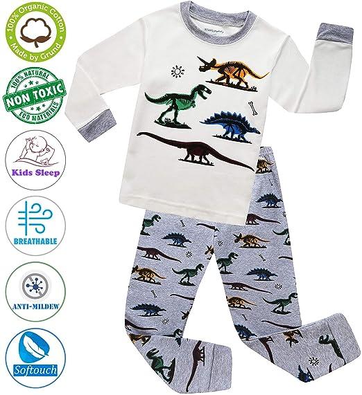 de2a5fc057a3 Amazon.com  MOGGEI Boys Pajamas Clothes Sleepwear 100% Cotton PJS ...