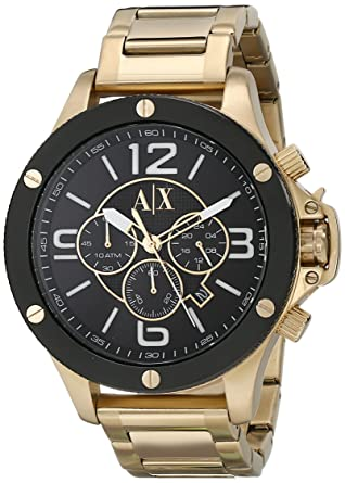 32c8789a99d Amazon.com  Armani Exchange Men s AX1511 Gold Watch  Armani Exchange   Watches