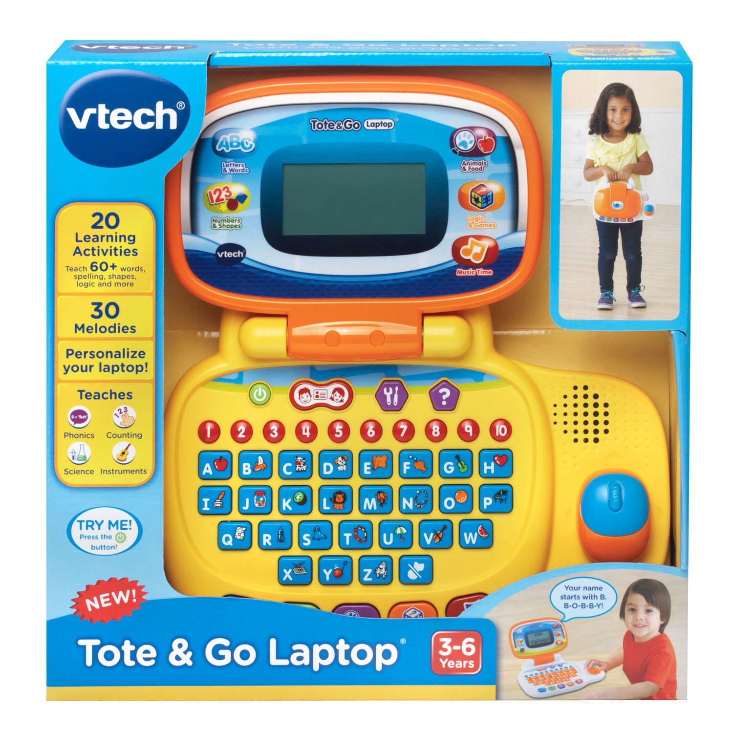 Amazon VTech Tote and Go Laptop line Exclusive Toys & Games