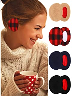 Whaline 3 Pairs Ear Warmers Bandless Ear Muffs Unisex for Winter Outdoors