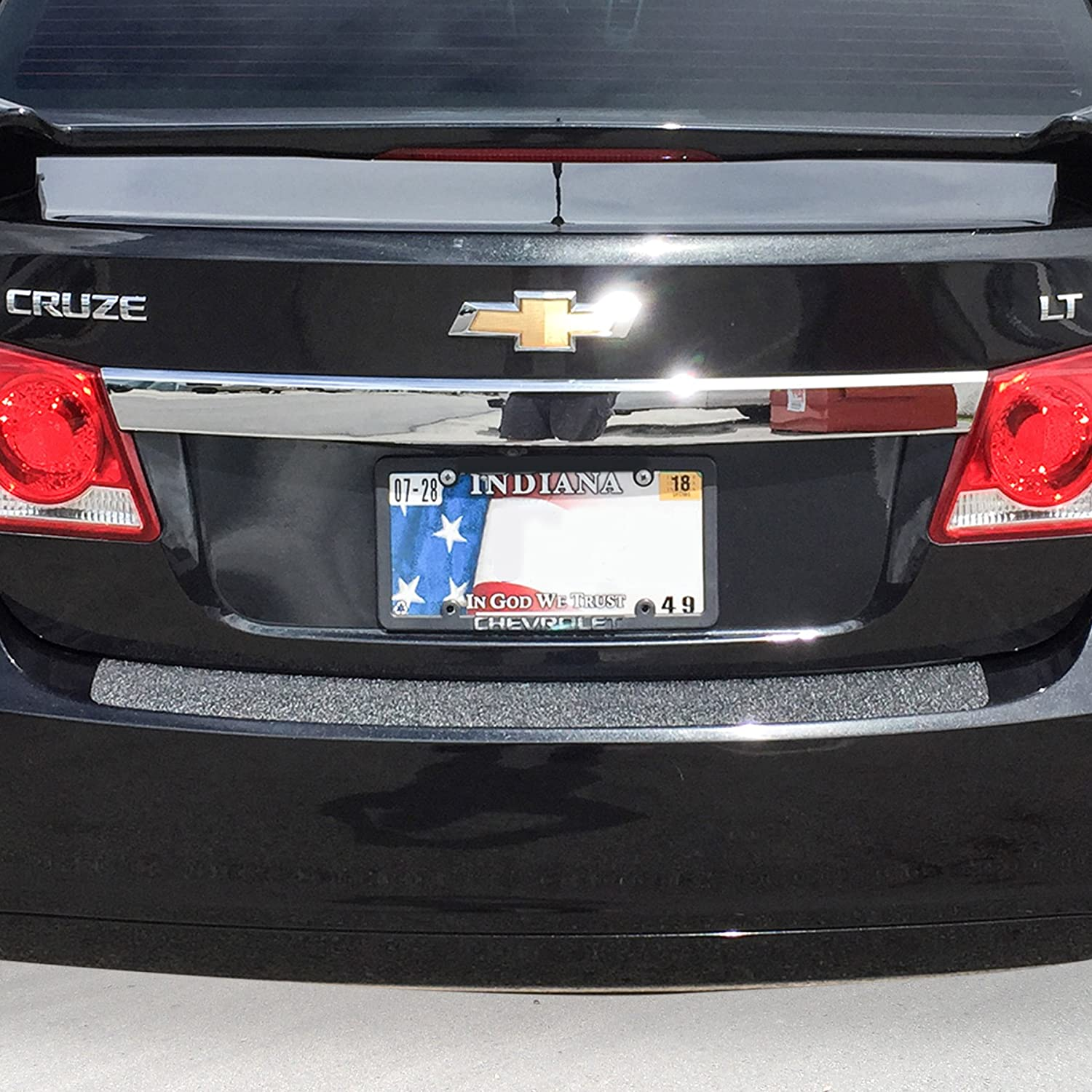 Red Hound Auto Rear Bumper Paint Protection Film 2011-2015 Compatible with Chevy Cruze 1pc Custom Guard Clear Applique Cover Self Healing Invisible Cover Wet Install