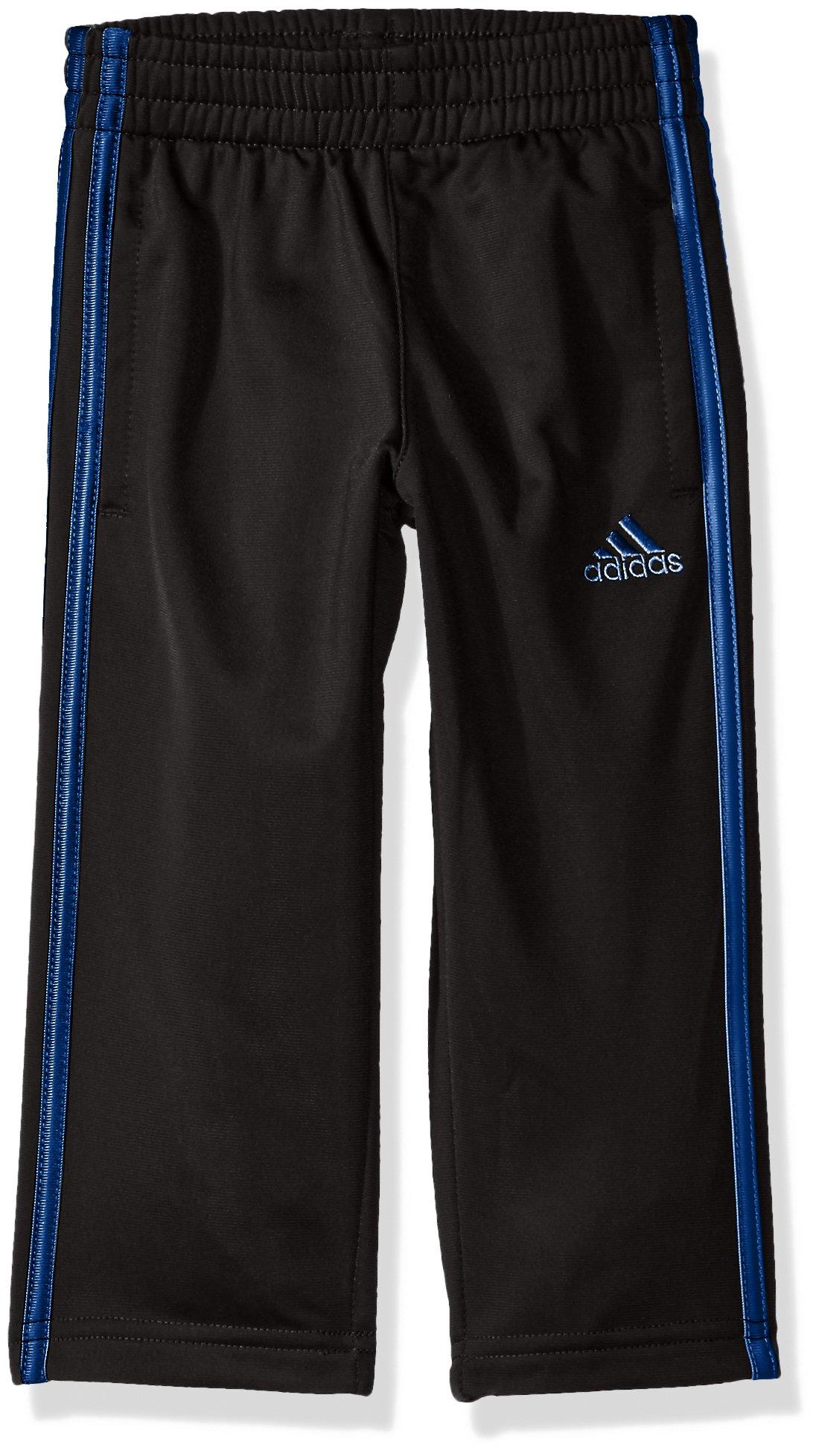 adidas Toddler Boys' Tricot Pant, Black/Blue, 4