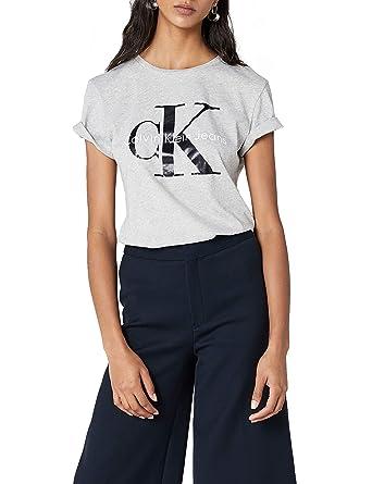 e0f80e7631b Calvin Klein Shrunken Tee T-Shirt Femme  Amazon.fr  Vêtements et accessoires