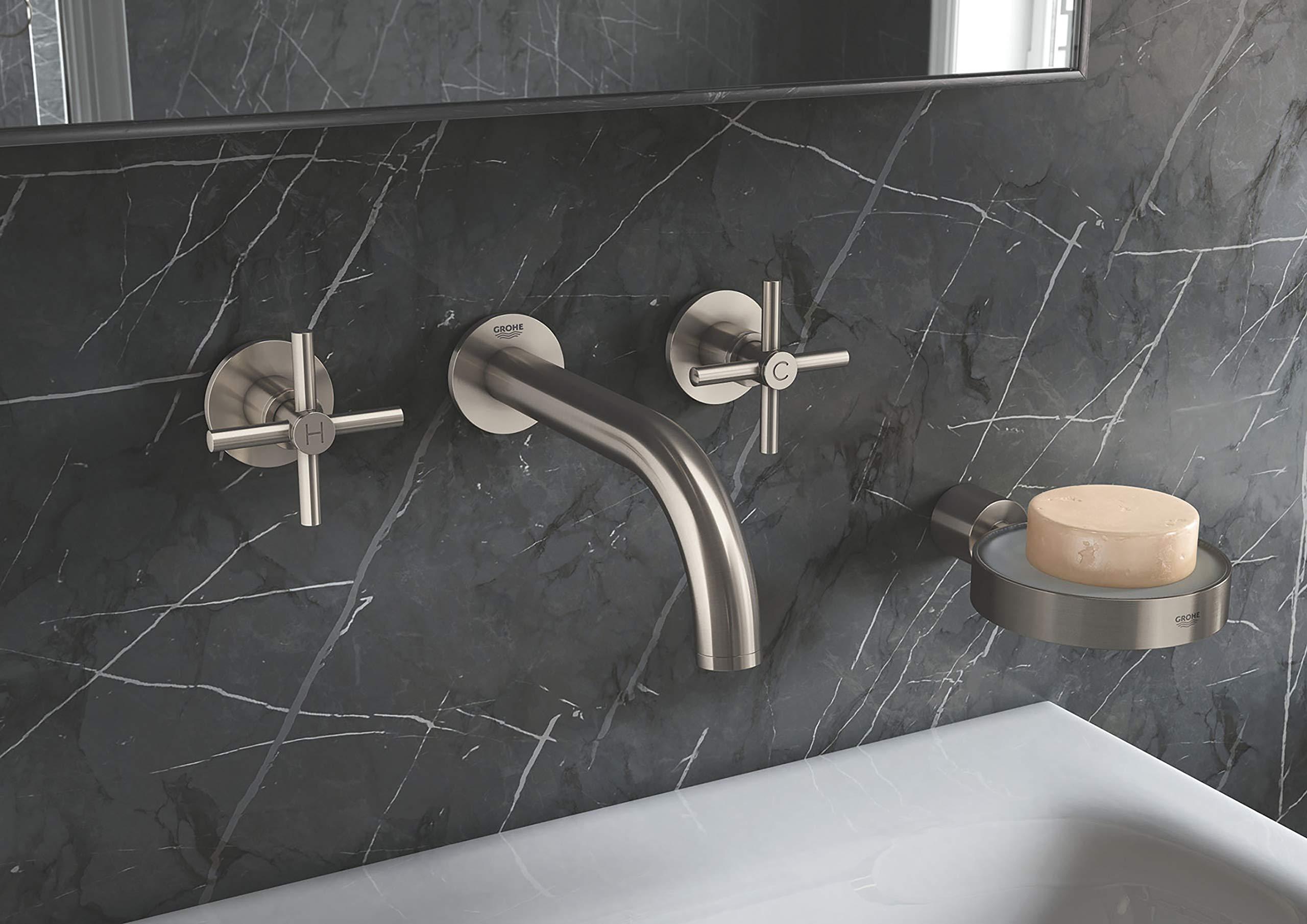 Grohe 18026EN3 Atrio Bathroom Faucet Cross Handles, Brushed Nickel by GROHE (Image #7)