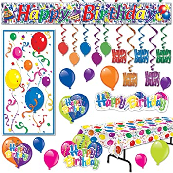 Amazon Com All In One Birthday Party Supplies And Party Decorations