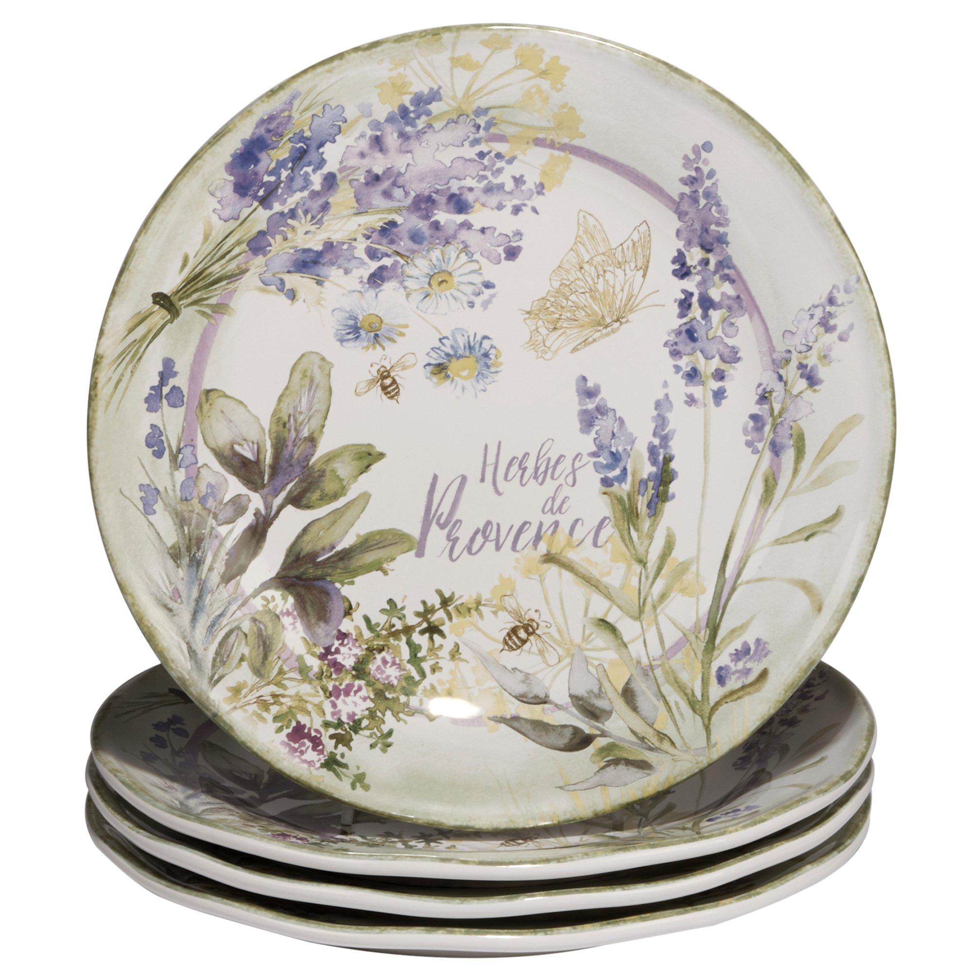 Certified International Herbes De Provence Dinner Plates (Set of 4), 11'', Multicolor