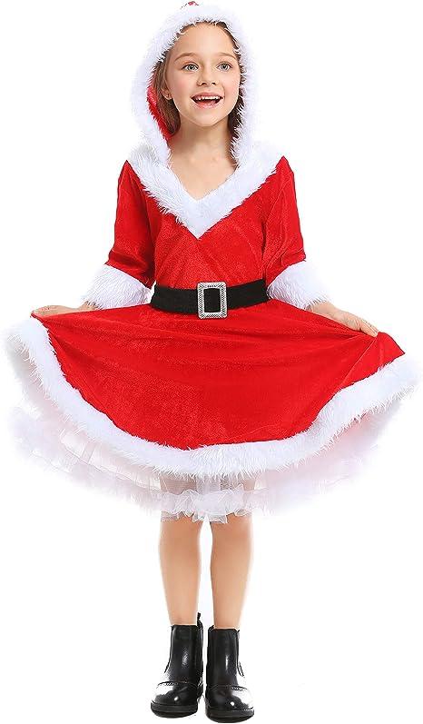 LOLANTA Disfraz de señorita Claus para niñas Disfraz de Cosplay de ...