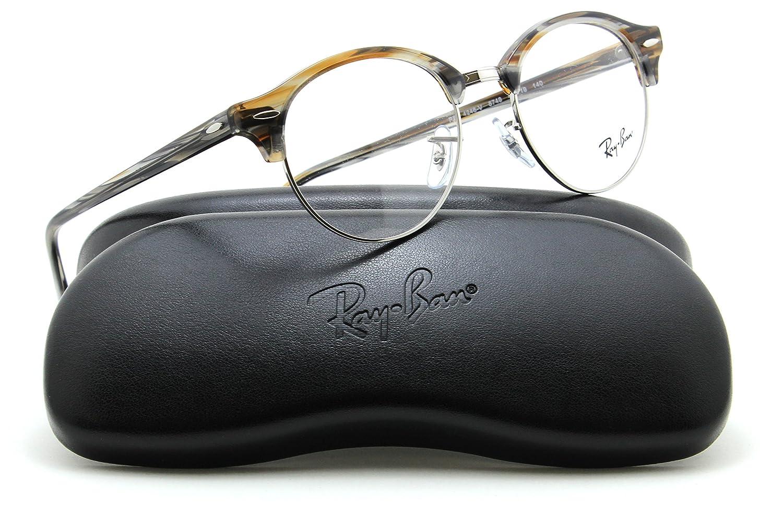 6572ea3154 Ray-Ban RX4246V Clubround Optics Prescription Eyeglasses 5749 - 49   Amazon.co.uk  Clothing
