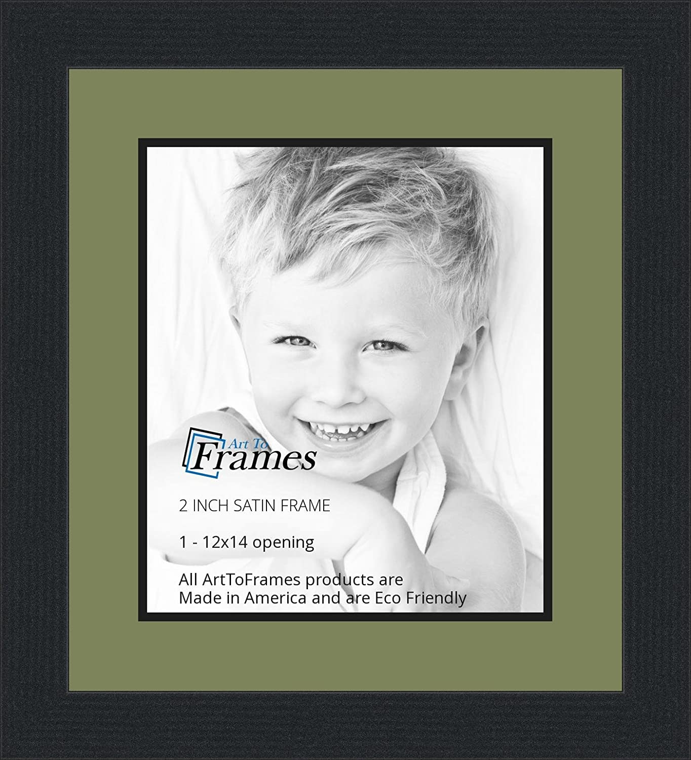 Amazoncom 12x14 12 X 14 Picture Frame Satin Black 2 Wide