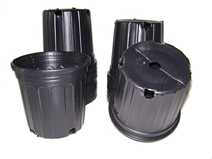 50 NEW Plastic Nursery 1 Gallon Trade POT ~ Holds 0.66 Gal