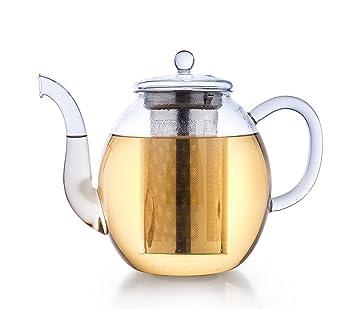 Glas Teekanne creano glas teekanne 1 5l 3 teiliger teebereiter mit integriertem