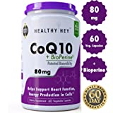 HealthyHey Nutrition CoQ10-80mg - 60 Veg Capsules (Pack of 1)