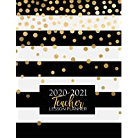 Teacher Lesson Planner: Weekly and Monthly Calendar Agenda Academic Year August - July Includes Quotes & Holidays Gold…