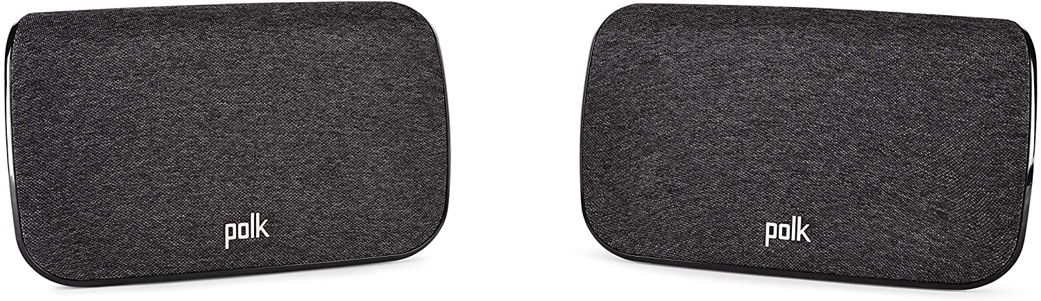 polk SR2 Wireless Surround Sound Speakers for Select Polk React and Polk Magnifi Sound Bars - Immersive Surround Sound, Easy Set Up, Multiple Placement Options