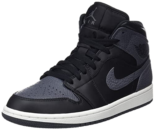 Nike Air Jordan 1 Mid, Zapatillas para Hombre, Negro (Black/dk Grey-Summit White 041), 40 EU: Amazon.es: Zapatos y complementos