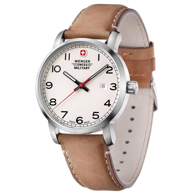 b380366e40b0  Wenger Swiss military hombre AVENUE Vintage reloj  Amazon.es  Relojes