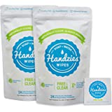 Handzies Natural Soap and Water Hand Wipes, Free & Clear, Individually Packaged Singles 24ct, 2Pack (48 Individually…