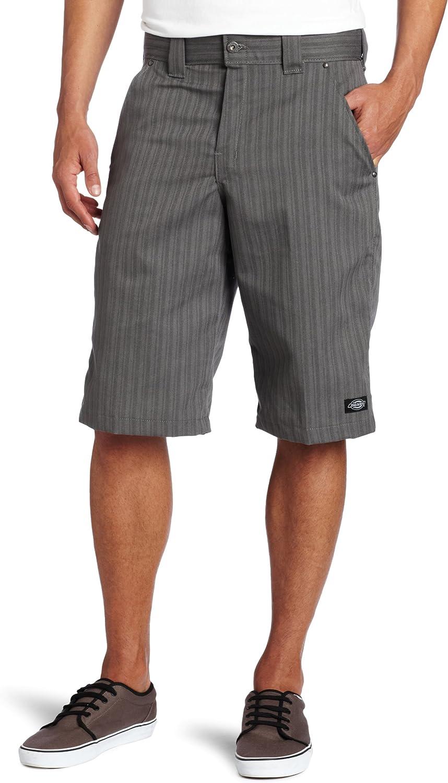 Dickies Mens 13 Regular Fit Shadow Stripe Short