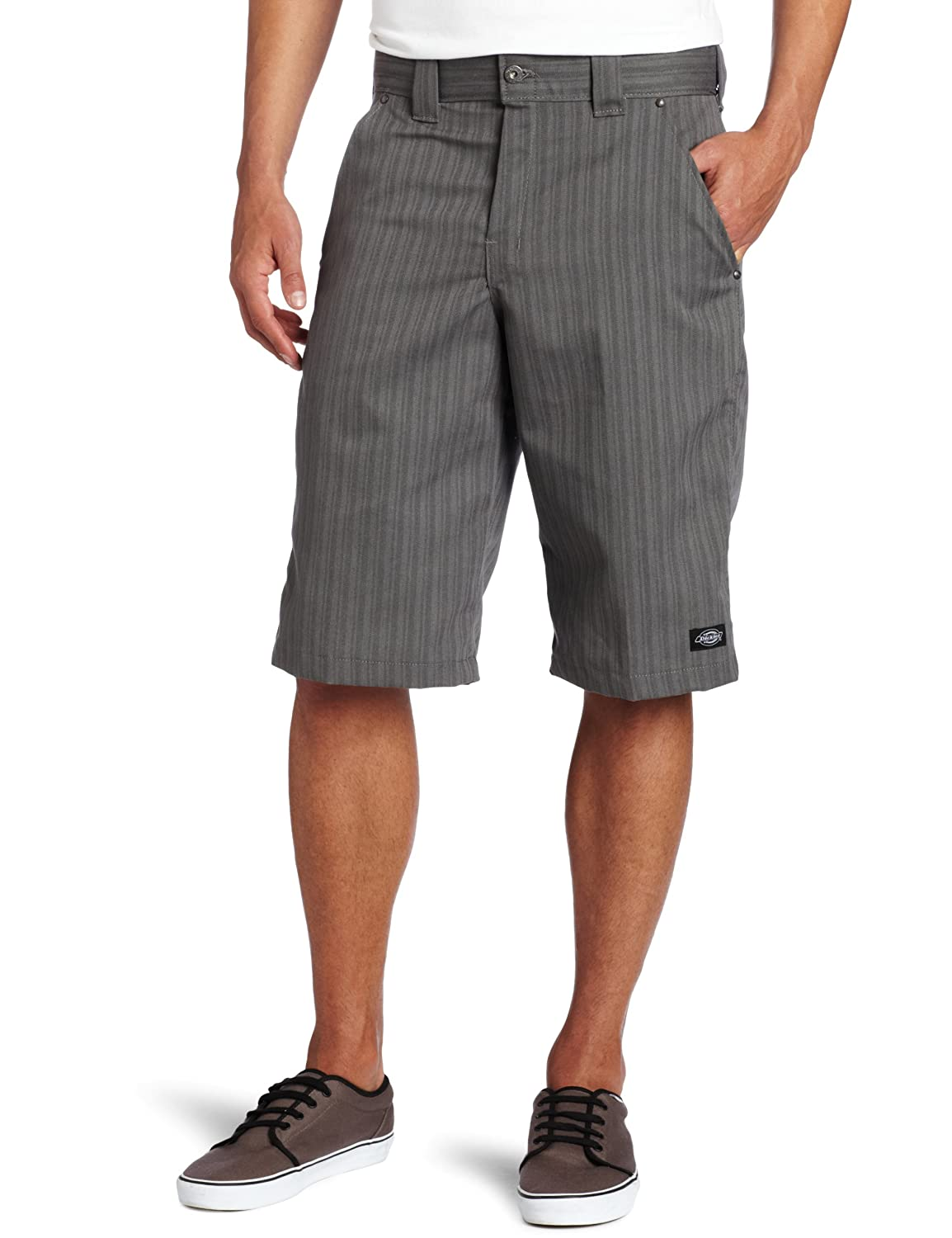 Dickies Mens 13-Inch Regular-Fit Shadow Stripe Short Williamson Dickie Mfg Co. WR878GA