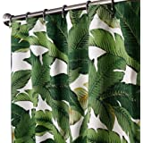 "Unique Shower Curtains Designer Fabric Green Tommy Bahama Swaying Palms 72"" x 72"""