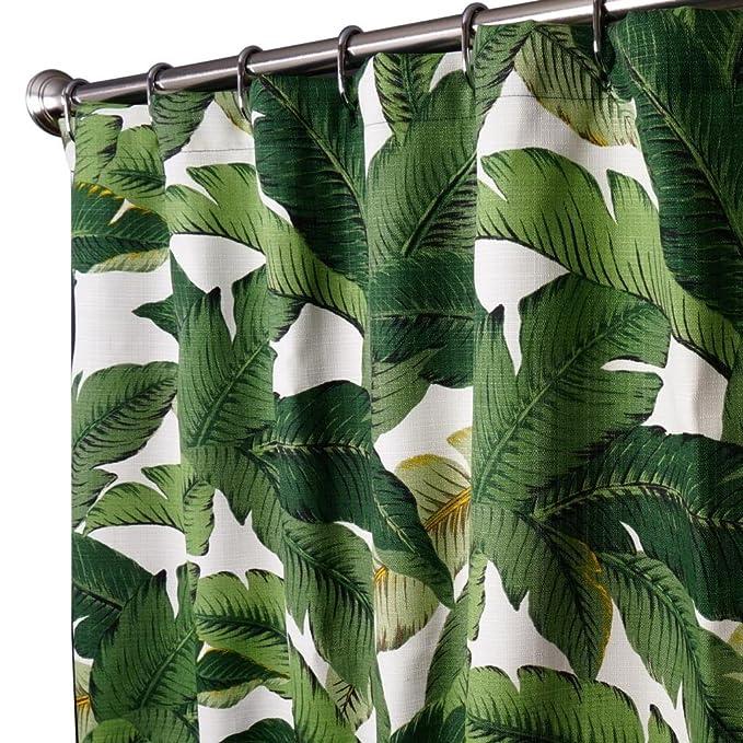 Amazon.com: Unique Shower Curtains Designer Fabric Green Tommy ...