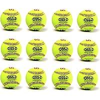 OSS-2 practice softball ball, soft touch, size 12, 1 dozen