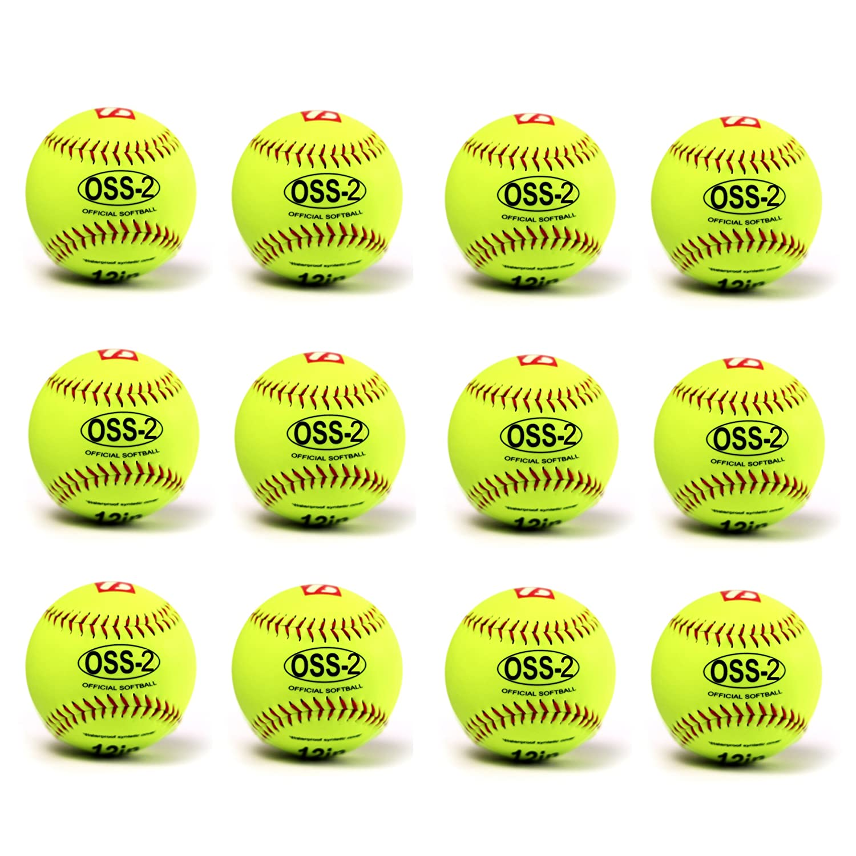Pelota Barnett para softball (30,5 cm, 12 unidades), color ...
