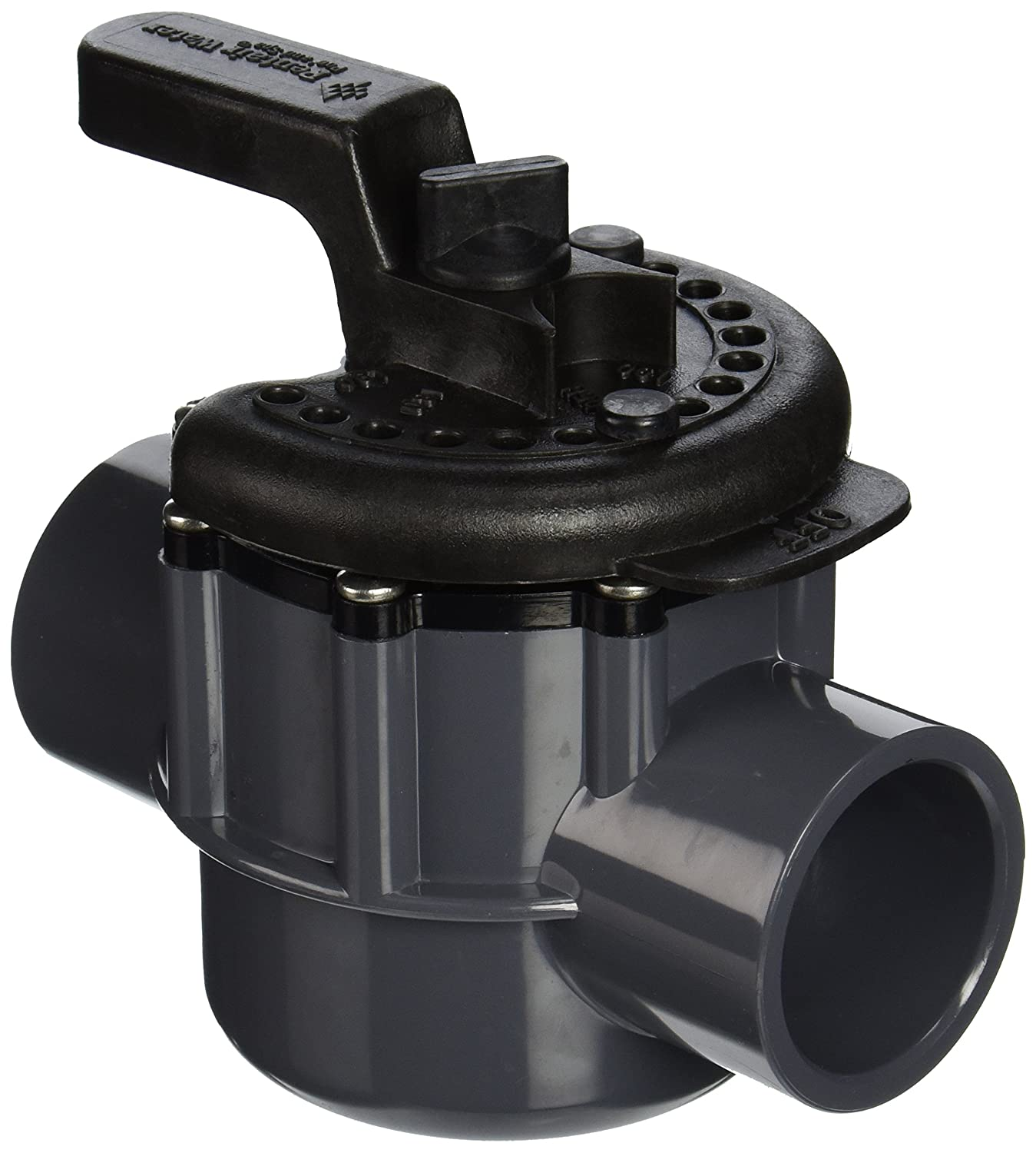 Pentair 263038 1 1 2 Inch 2 Way Pvc Diverter Valve For