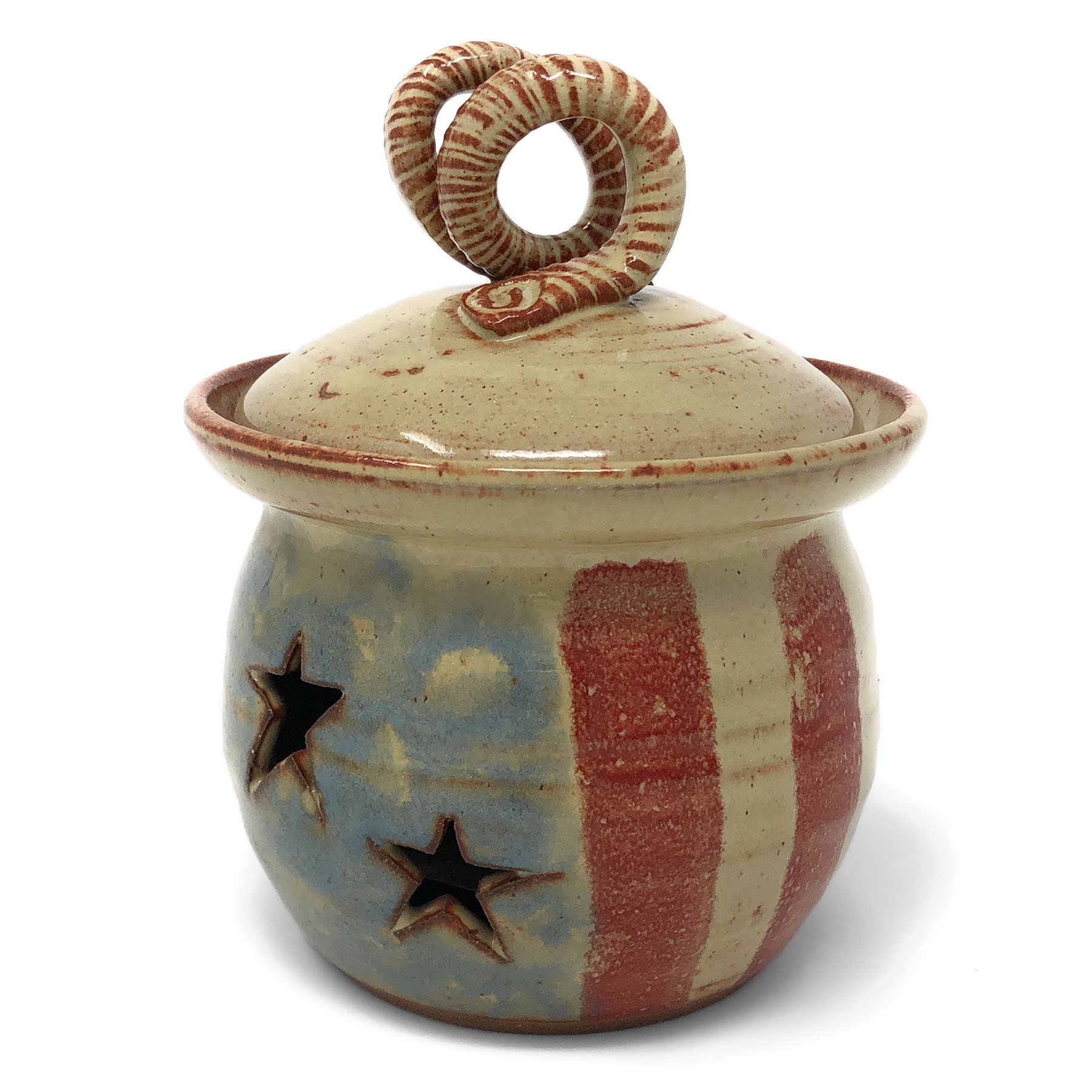 MudWorks Old Glory Garlic Keeper by MudWorks Pottery