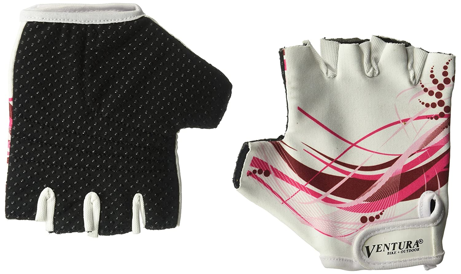 Ventura Adult//Youth Non-Slip Knob Gloves White//Pink Cycle Force Group 719985-B