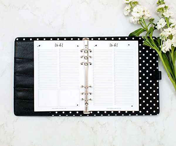 A5 Planner To Do List Pages, Paper Refill Inserts for Filofax, Carpe Diem, Cambridge Planners (Notebook Not Included)