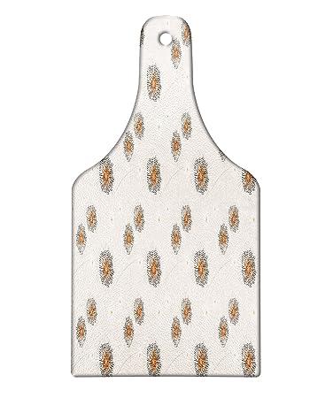 Amazon Com Lunarable Cream Cutting Board Dandelion With Soft