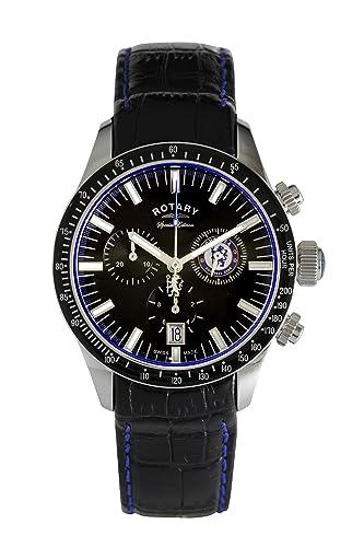 Rotary Reloj Cronógrafo para Hombre de Cuarzo con Correa en Cuero GS90048/04: Rotary: Amazon.es: Relojes